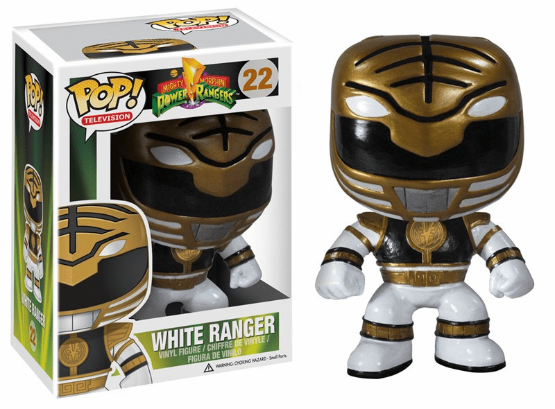 Funko Pop TV Vinyl 22 Mighty Morphin Power Rangers White Ranger Figure