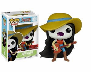 Funko Pop TV Vinyl 301 Adventure Time Marceline with Hat & Axe Guitar Figure
