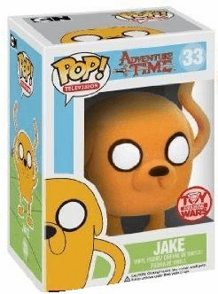 Funko Pop TV Vinyl 33 Adventure Time Jake Flocked Figure