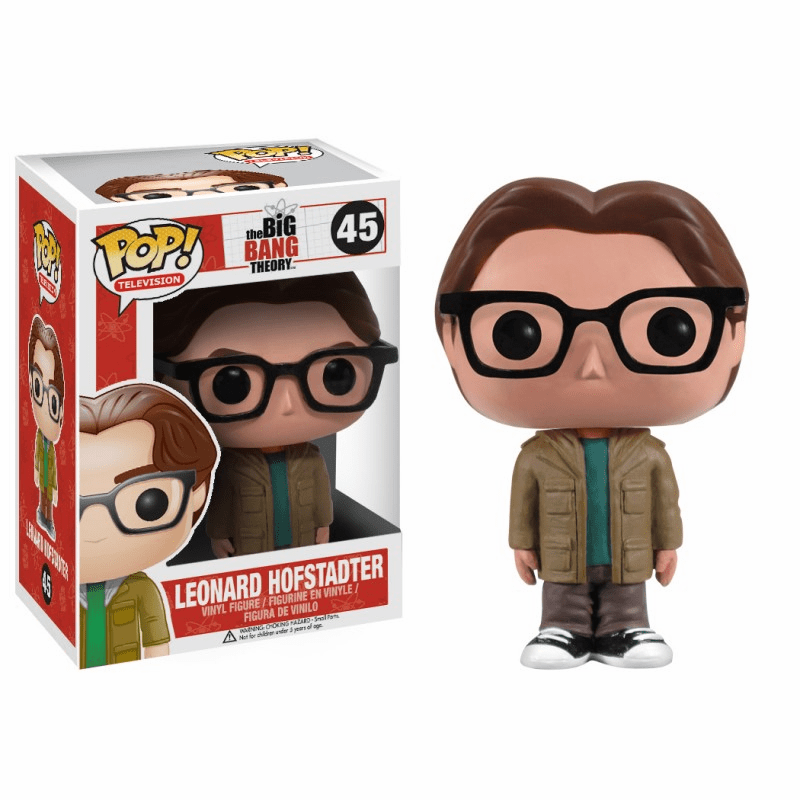 Funko Pop TV Vinyl 45 The Big Bang Theory Leonard Hofstadter Figure