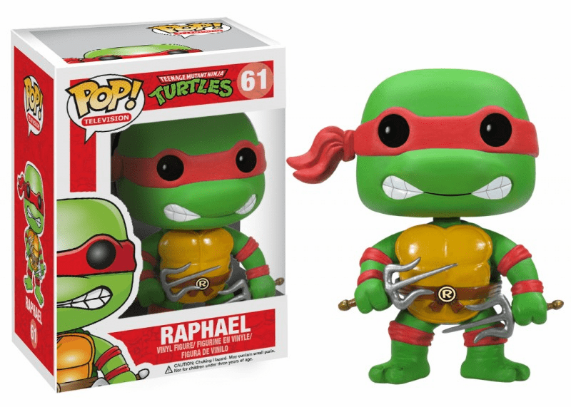 Funko Pop TV Vinyl 61 Teenage Mutant Ninja Turtles Raphael Figure