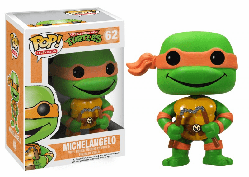 Funko Pop TV Vinyl 62 Teenage Mutant Ninja Turtles Michelangelo Figure