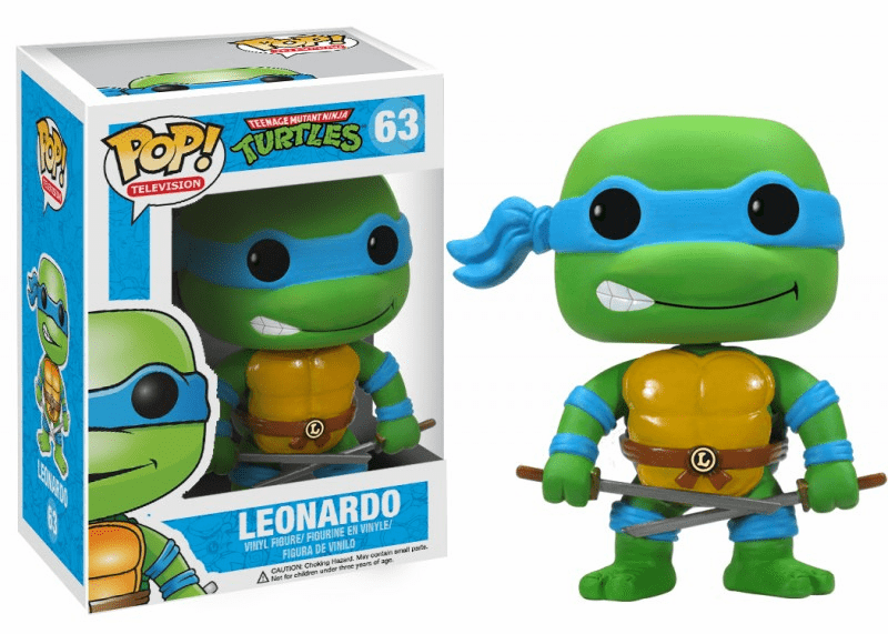 Funko Pop TV Vinyl 63 Teenage Mutant Ninja Turtles Leonardo Figure