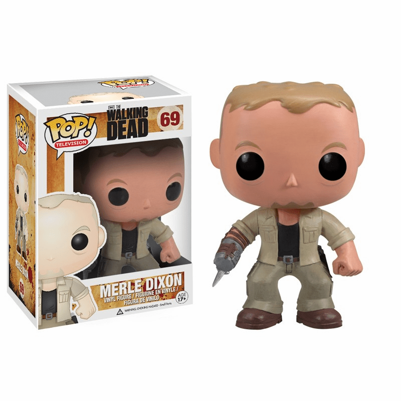 Funko Pop TV Vinyl 69 The Walking Dead Merle Dixon Figure