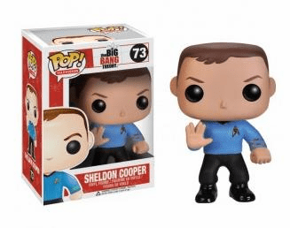 Funko Pop TV Vinyl 73 The Big Bang Theory Star Trek Sheldon Cooper Figure