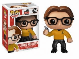 Funko Pop TV Vinyl 74 The Big Bang Theory Star Trek Leonard Hofstadter Figure
