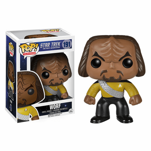 Funko Pop TV Vinyl Star Trek The Next Generation Worf Figure