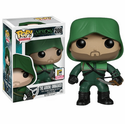 Funko Pop TV Vinyl The Arrow Unmasked Figure