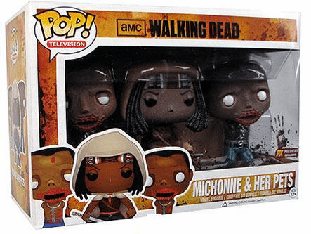 Funko Pop TV Vinyl The Walking Dead Michonne & Her Pets Figures