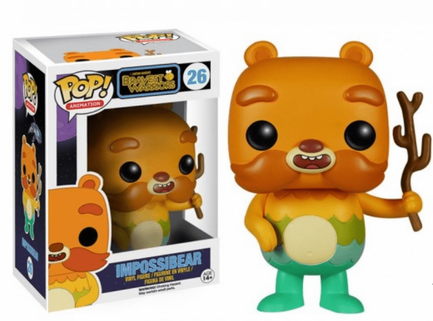 Funko Pop Vinyl Cartoon Hangover Bravest Warriors Impossibear Figure