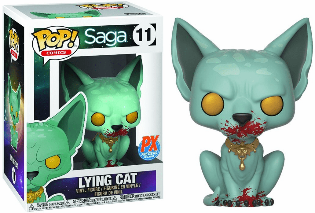 Funko Pop Vinyl Comics 11 Saga Lying Cat Bloody Figure