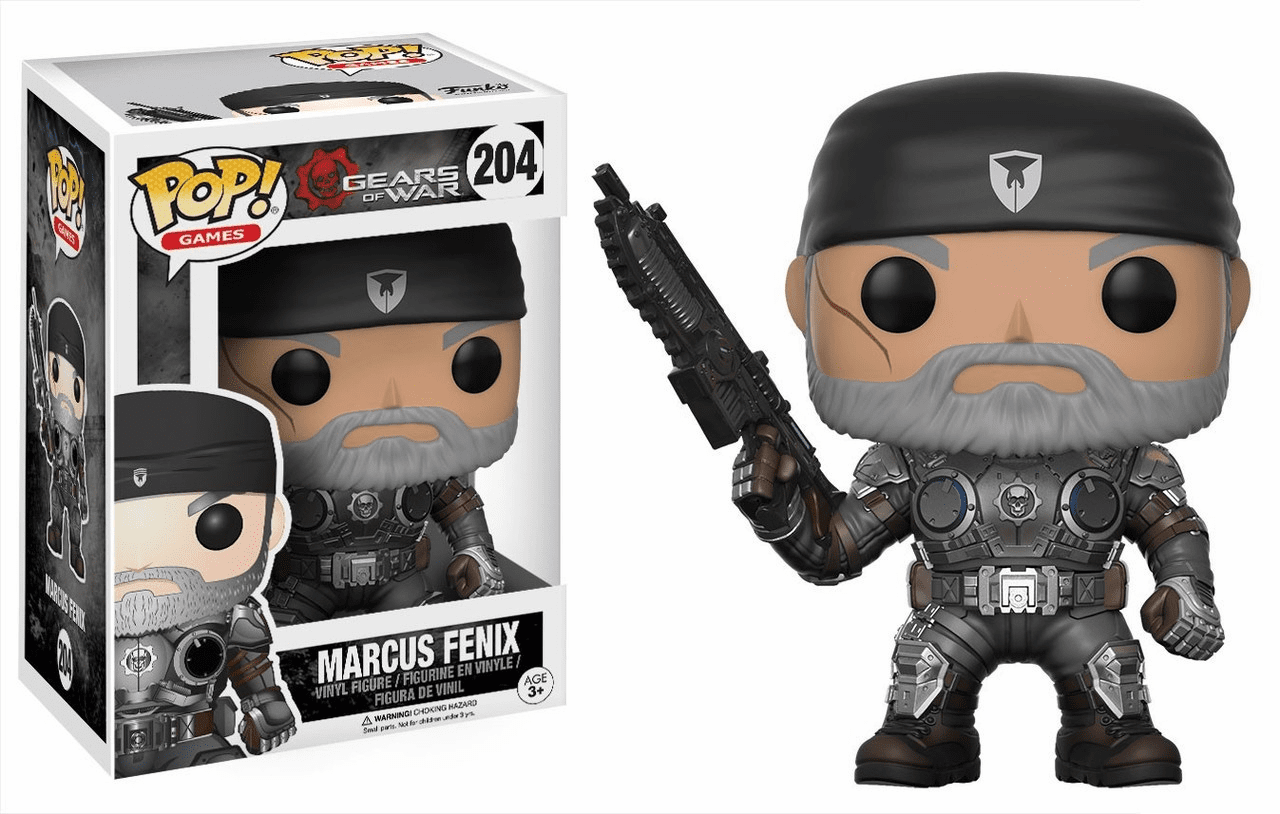Funko Pop Vinyl Games 204 Gears of War Marcus Fenix Figure
