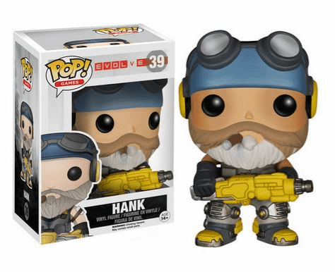 Funko Pop Vinyl Games Evolve Hank Figure
