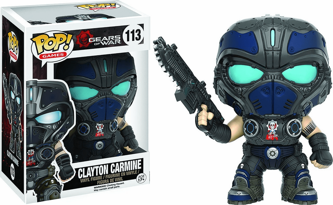 Funko Pop Vinyl Games Gears of War Clayton Carmine Figure