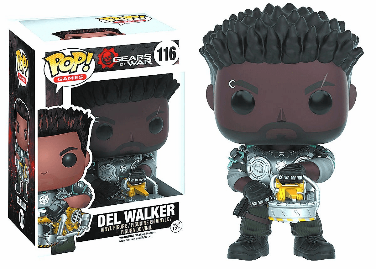 Funko Pop Vinyl Games Gears of War Del Walker Figure