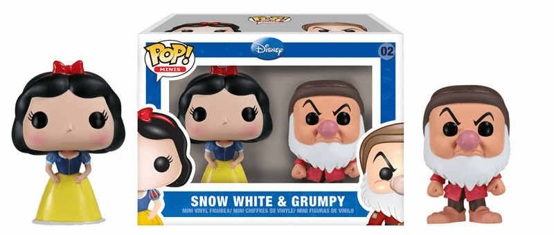 Funko Pop Vinyl Minis 02 Snow White and Grumpy Figures