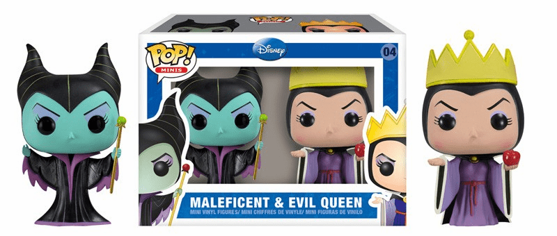 Funko Pop Vinyl Minis 04 Maleficent and Evil Queen Figures