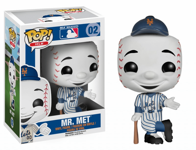 Funko Pop Vinyl MLB 02 New York Mets Mr. Met Figure