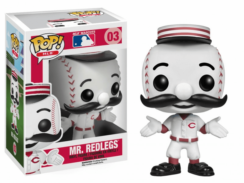 Funko Pop Vinyl MLB 03 Cincinnati Reds Mr. Redlegs Figure