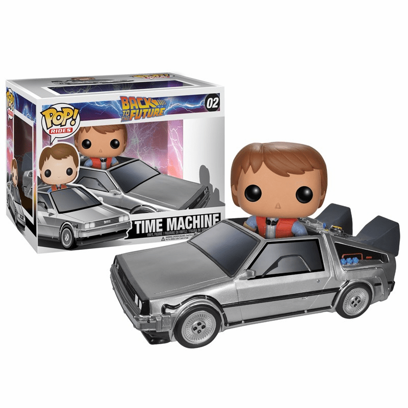 Funko Pop Vinyl Rides Back to the Future Delorean Time Machine