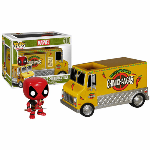 Funko Pop Vinyl Rides Deadpool Chimichanga Truck