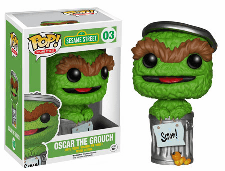 Funko Pop Vinyl Sesame Street Oscar the Grouch Figure