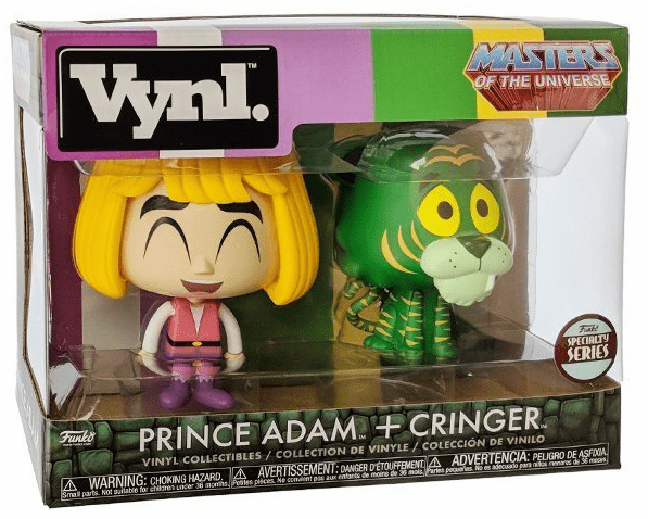 Funko Vynl Masters of the Universe Prince Adam & Cringer Set