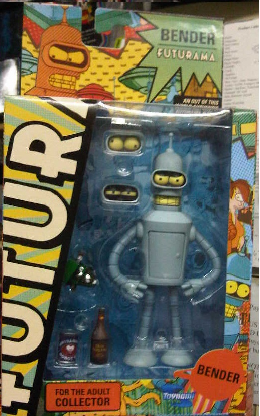 Futurama Reissue Bender Version 3 Action Figure