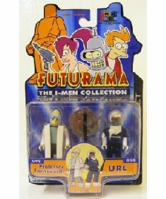 Futurama The I-Men Collection Professor Farnsworth and URL Figure Set