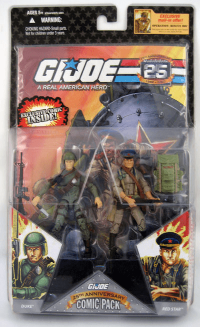 G.I. Joe 25th Anniversary Duke & Red Star Comic Pack
