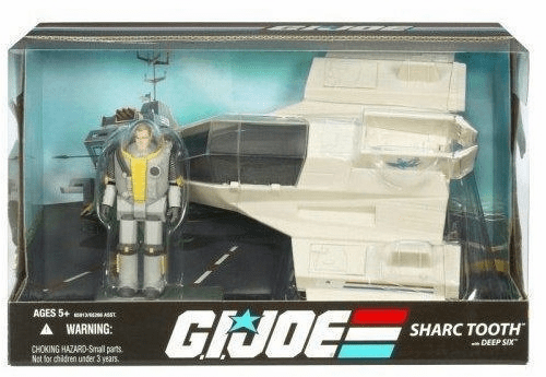 G.I. Joe 25th Anniversary Sharc Tooth with Deep Six Vehicle