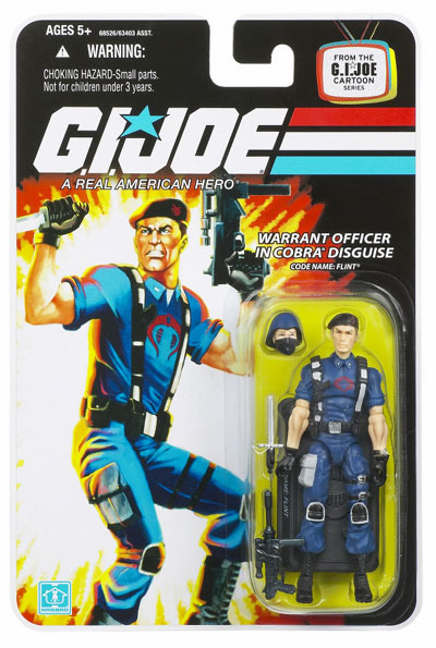 G.I. Joe 25th Anniversary Warrant Officer Flint in Cobra Disguise Figure
