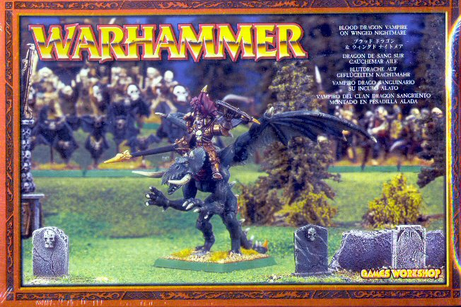 Games Workshop Warhammer Blood Dragon Vampire on Winged Nightmare Set
