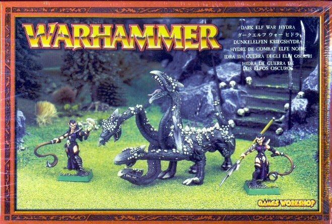 Games Workshop Warhammer Dark Elf War Hydra Miniature Set
