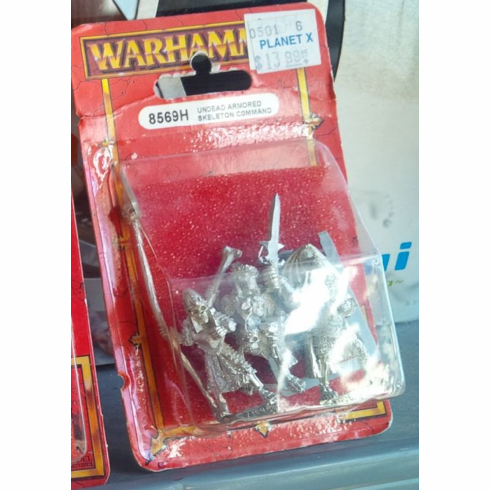 Games Workshop Warhammer Undead Armored Skeleton Command Miniature