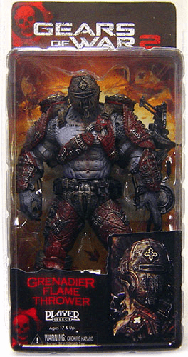 Gears of War 2 Locust Grenadier Flame Thrower Figure