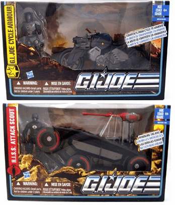 GI Joe Alpha HISS Attack Scout & Armor Cycle Vehicle Set