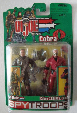 GI Joe vs Cobra Spy Troops Cross Hair & Cobra CLAW Commander Set
