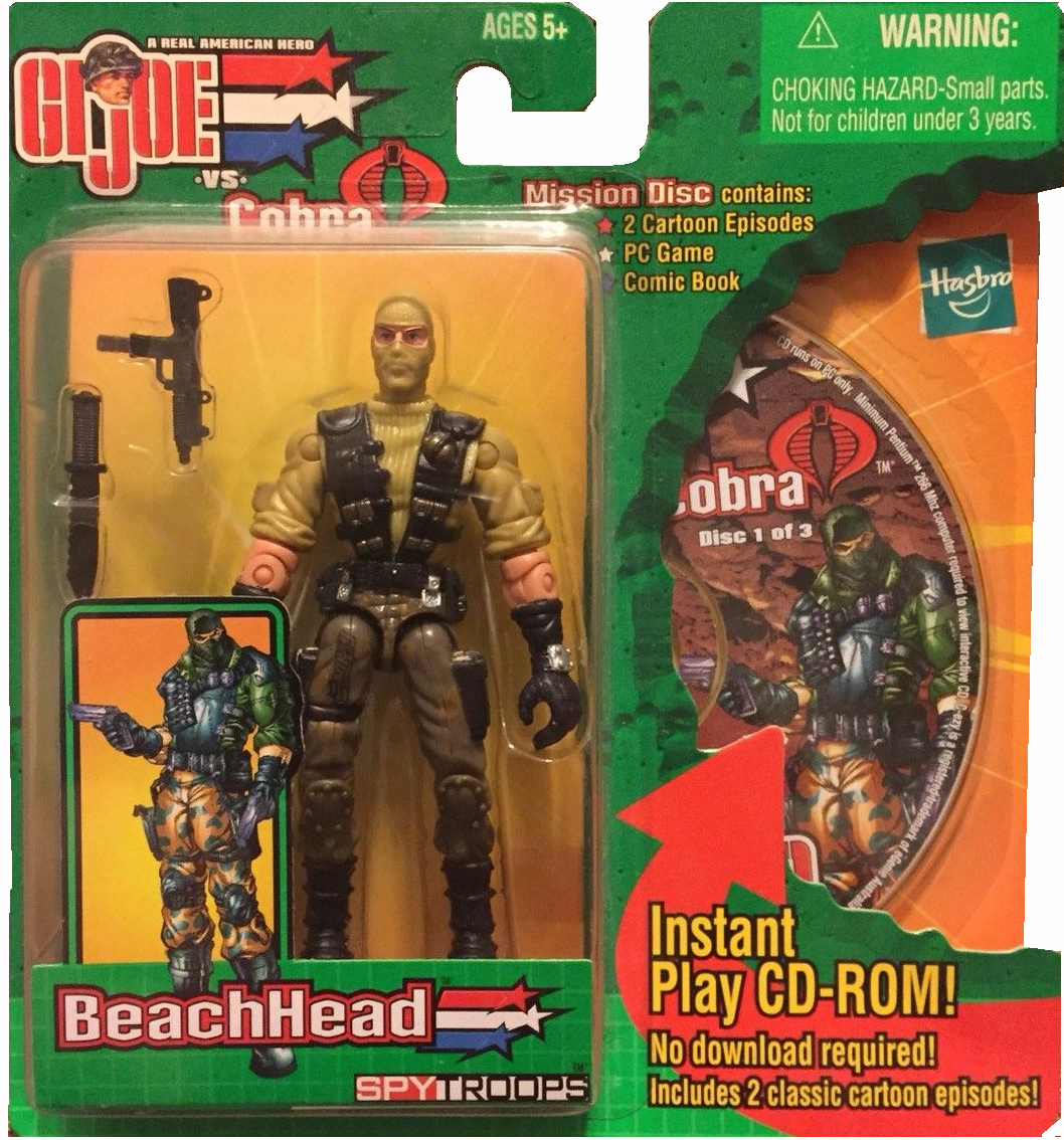 GI Joe vs Cobra Spy Troops Mission Disc BeachHead Figure