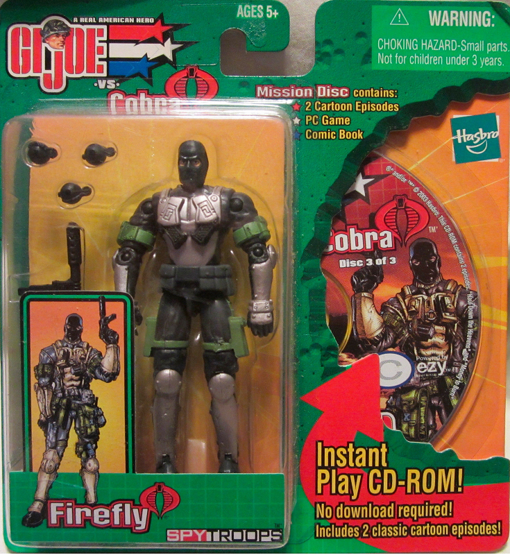 GI Joe vs Cobra Spy Troops Mission Disc Firefly Figure