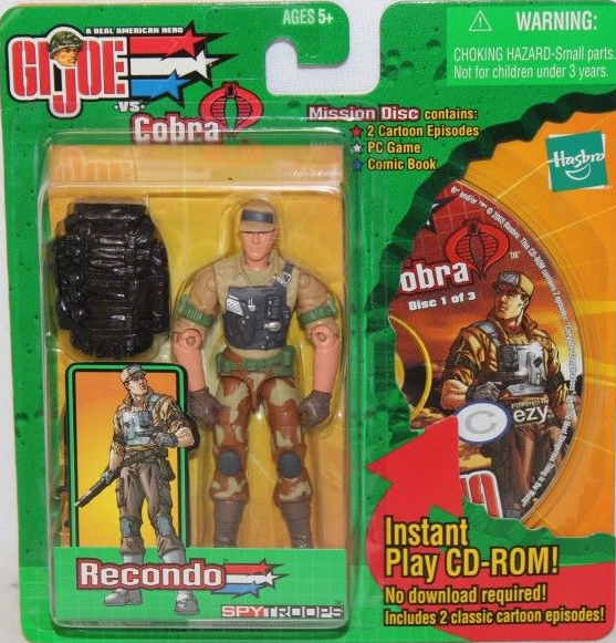 GI Joe vs Cobra Spy Troops Mission Disc Recondo Figure