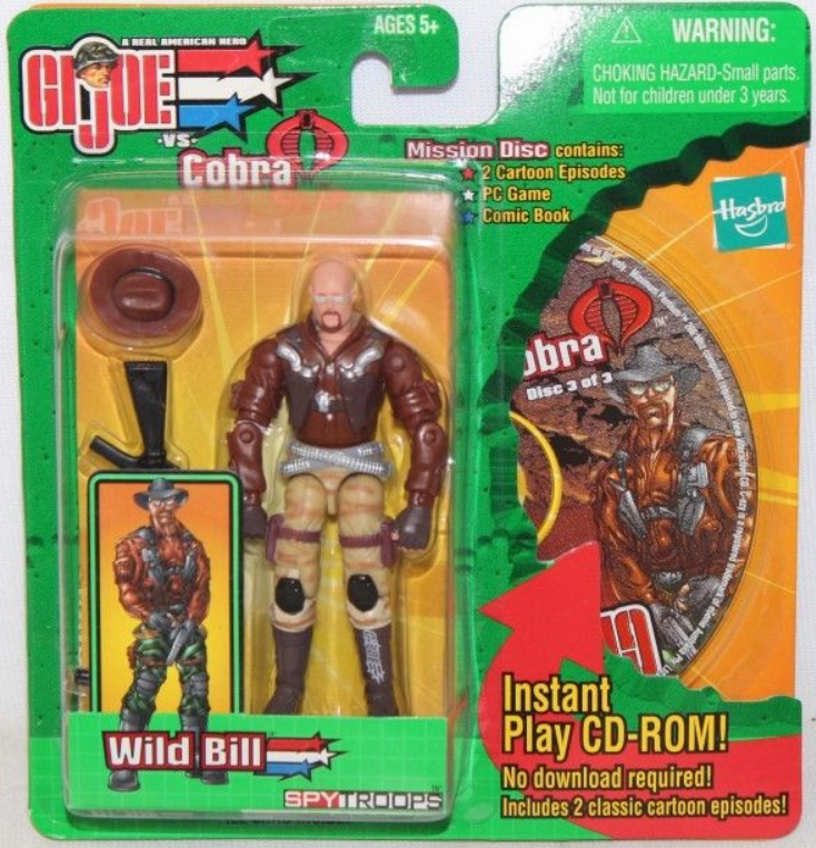 GI Joe vs Cobra Spy Troops Mission Disc Wild Bill Figure