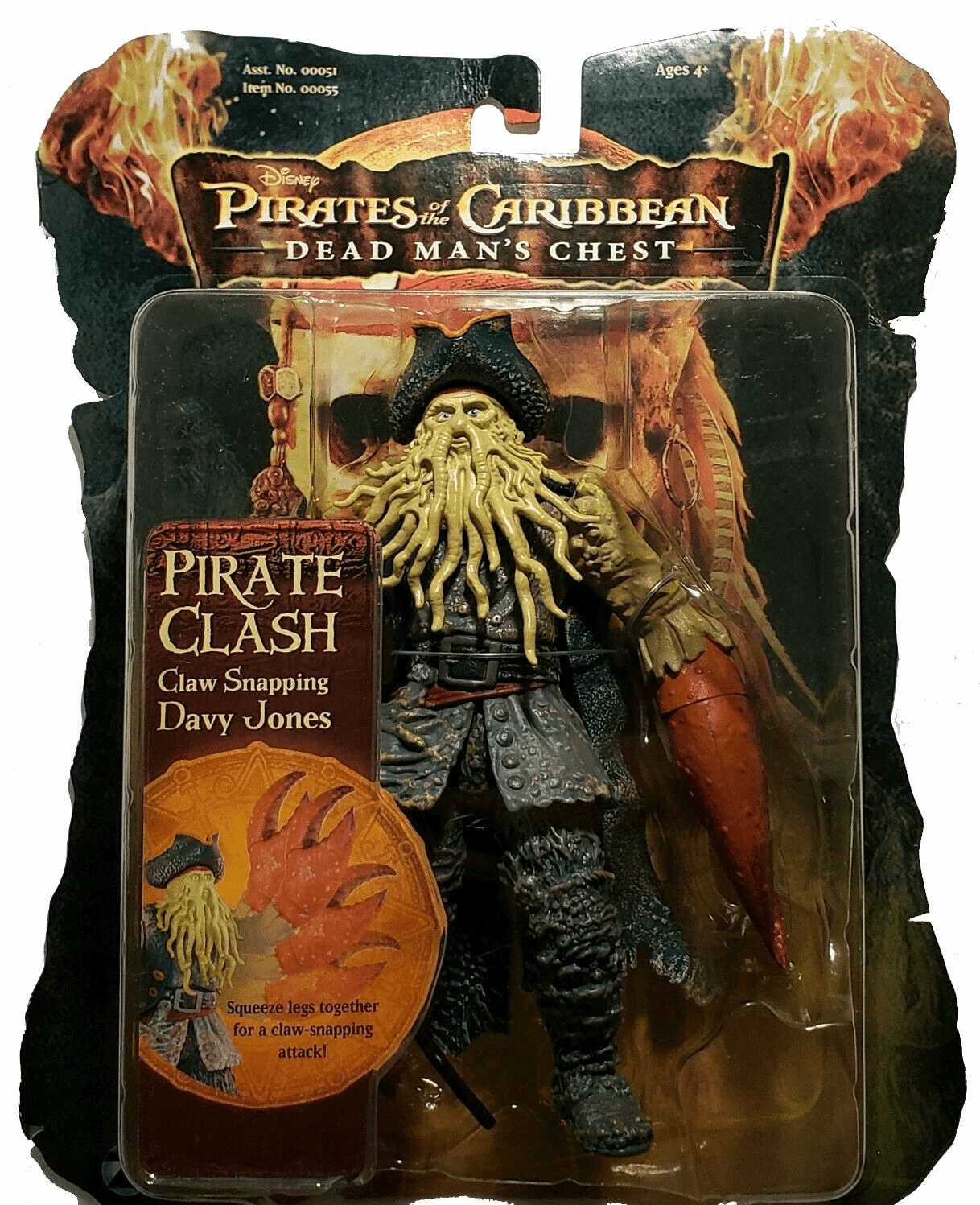 Grand Toys Pirates of the Caribbean Dead Man's Chest Davy Jones Figure