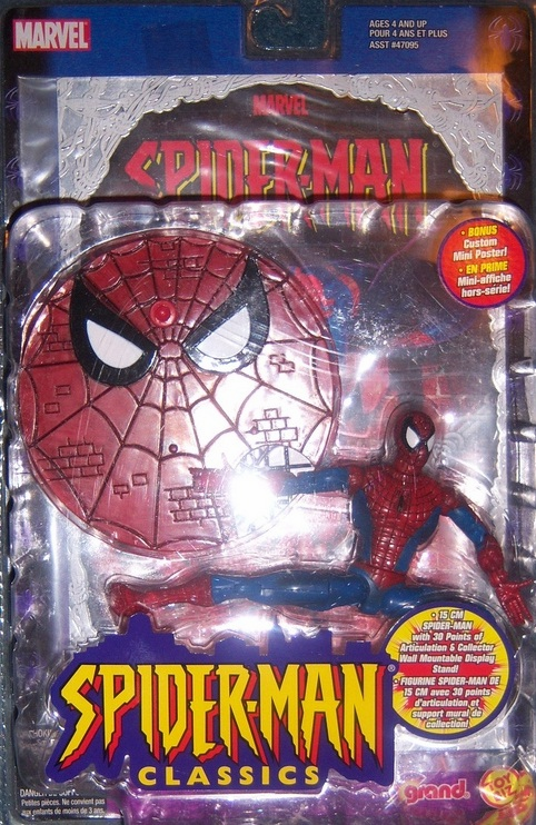 Grand Toys Spider-Man Classics Spider-Man with Poster Figure