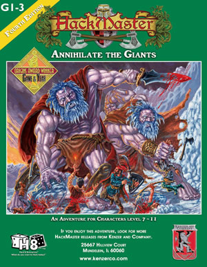 HackMaster Role Playing Game Annihilate the Giants Adventure Module