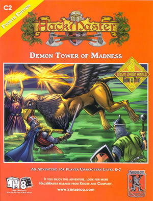 HackMaster Role Playing Game Demon Tower of Madness Adventure Module