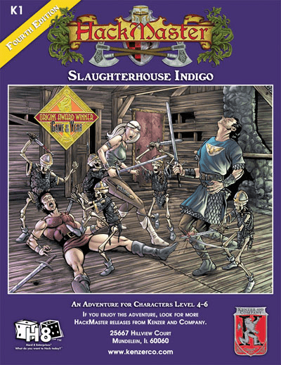 HackMaster Role Playing Game Slaughterhouse Indigo Adventure Module
