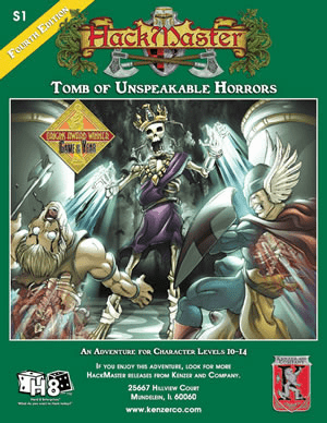 HackMaster RPG Tomb of Unspeakable Horrors Adventure Module