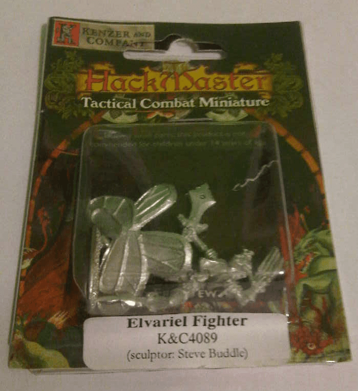 HackMaster Tactical Combat Elvariel Fighter Miniature