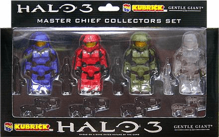 Halo 3 Kubrick Master Chief Collectors Set Figure